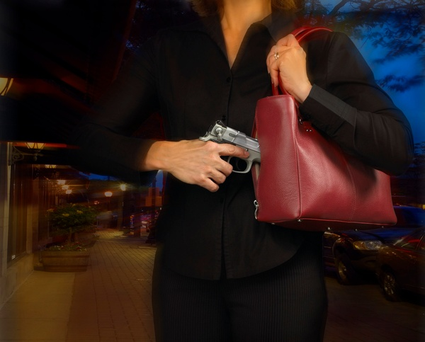 Concealed Carry HandBag Action shot