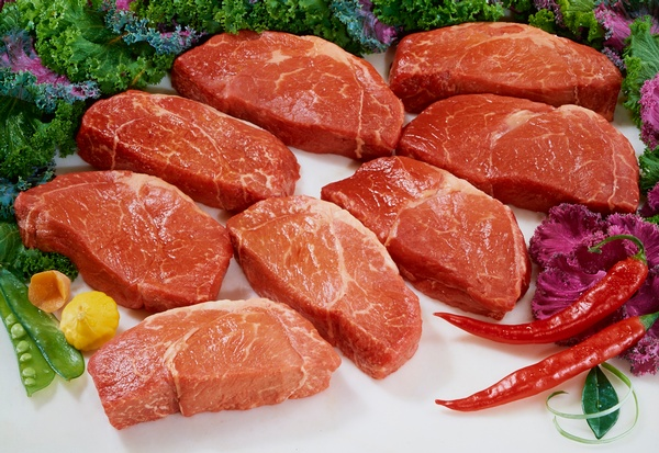 Steaks Photographed in studio for Large Trade Show Mural