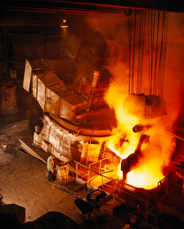 Steel Mill Pouring Ingot
