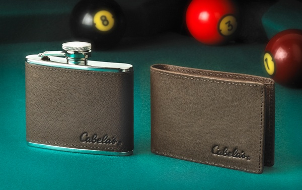 Cabela's Flask & Wallet Set  Studio Photography