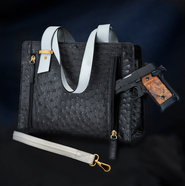 High End Designer Concealed Carry Hand Bag Studio Photography
