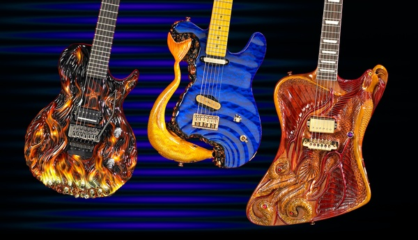 Studio Photography  Custom Hand Carved Guitars