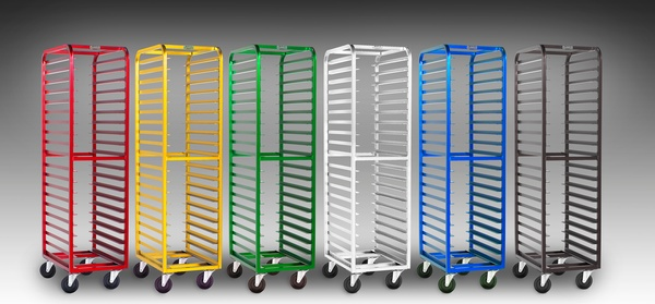 Anodized Color Coded Bakery Racks Studio Photography