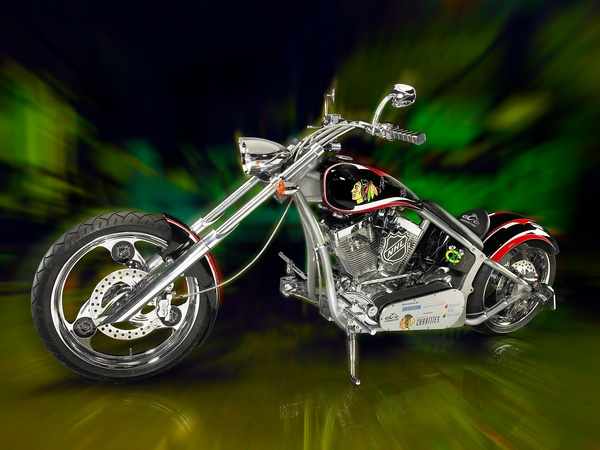 Orange County Choppers Blackhawks Bike